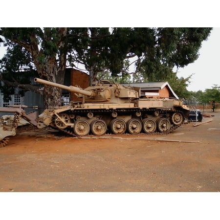 Centurion Mk Iii (LAMINATED POSTER Photo shows the South African version of the Centurion Main Battle Tank. Photo depicts a OIifant Mk Poster Print 24 x 36 )