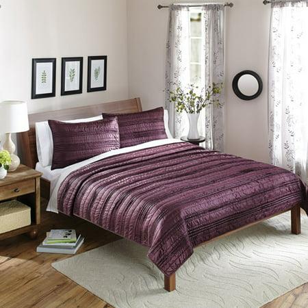 Better homes and gardens purple luminous bedding quilt set for Better homes and gardens quilt