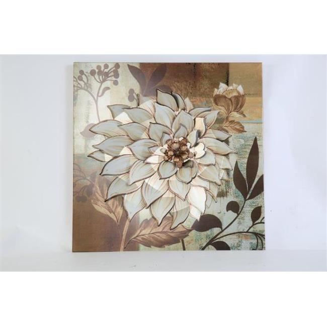 TWG Oak Garden The Dahlia Flower Metal Wall Art