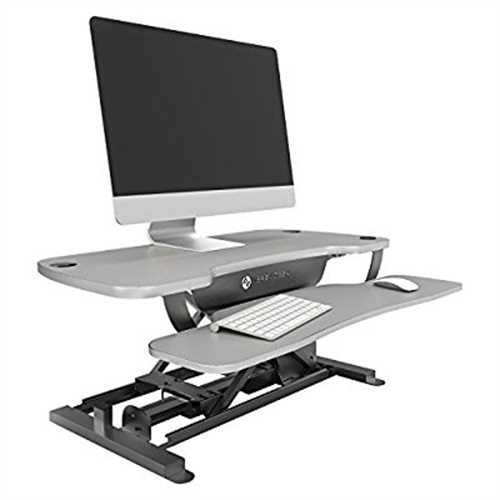 Refurbished VersaDesk Power Pro - 36 Electric Height Adjustable Standing Desk Riser. Power Sit to Stand Desktop Converter with Keyboard Tray