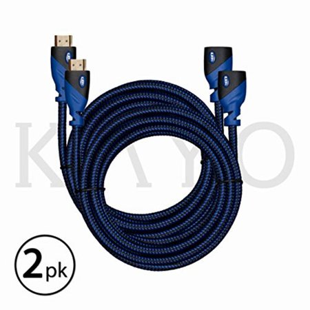 Bonus Hdmi Cable (HDMI Extender-Male to Female Extension Cable-10Feet (2-Pack)KAYO High-Speed HDMI Cable(2.0b) Supports:Ethernet,Audio Return,4K,3D,HD,2160p,18gbs,(Latest Version)HDCP 2.2 Compliant with Bonus CABLE Tie )