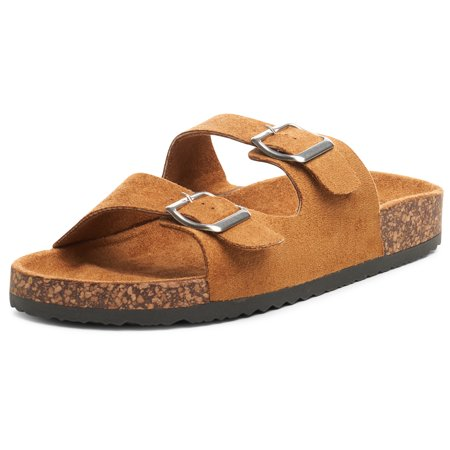 Alpine Swiss Womens Double Strap Slide Sandals EVA Sole Flat Comfort Shoes