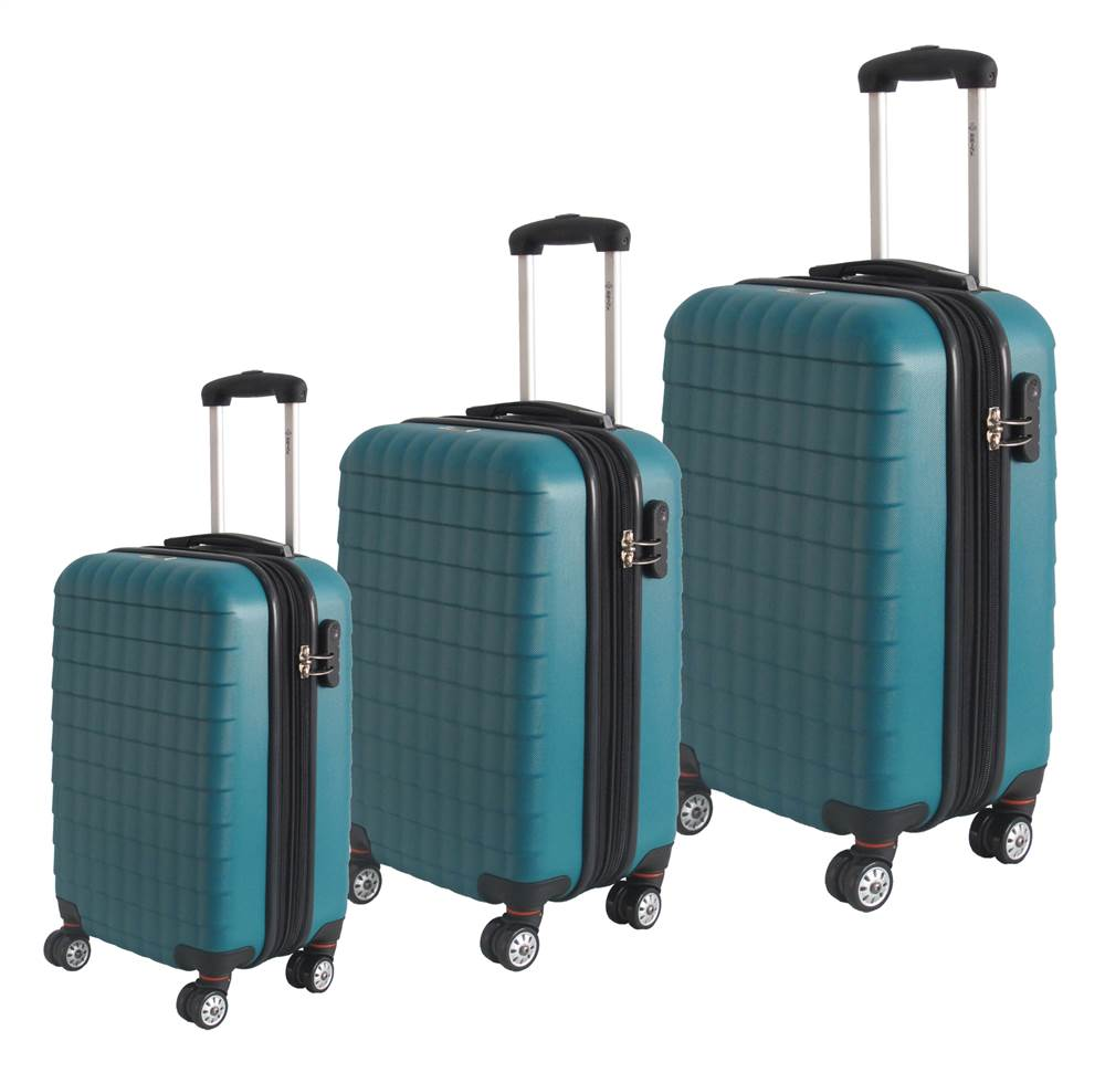 3-Pc Eco Friendly Luggage Set in Green