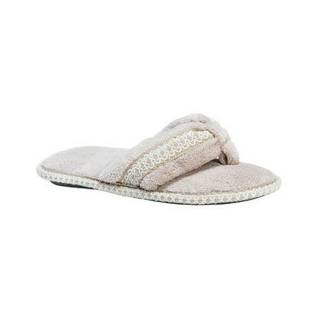 Women's Darlene Micro Chenille Thong Slippers - Glass Slippers Are So Back