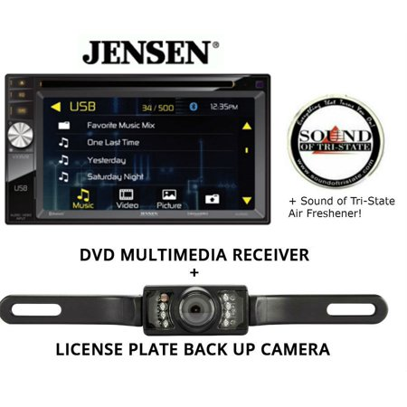 Jensen VX3528 DVD receiver and License Plate Backup Camera and a SOTS Air Freshener