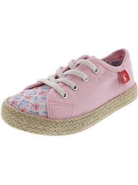 Joules Junior Play Cream Summer Mosaic Ankle-High Canvas Fashion Sneaker - 10M