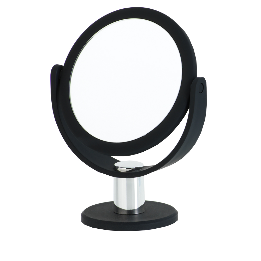 Danielle Debut 5x Round Vanity Mirror, Black Matte by Upper Canada Soap