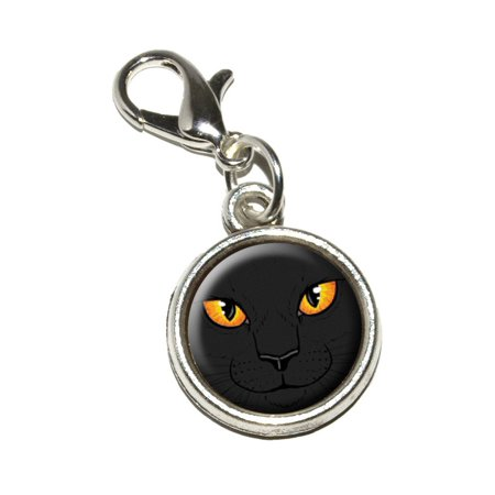 Black Cat Face - Pet Kitty Halloween Bracelet Charm