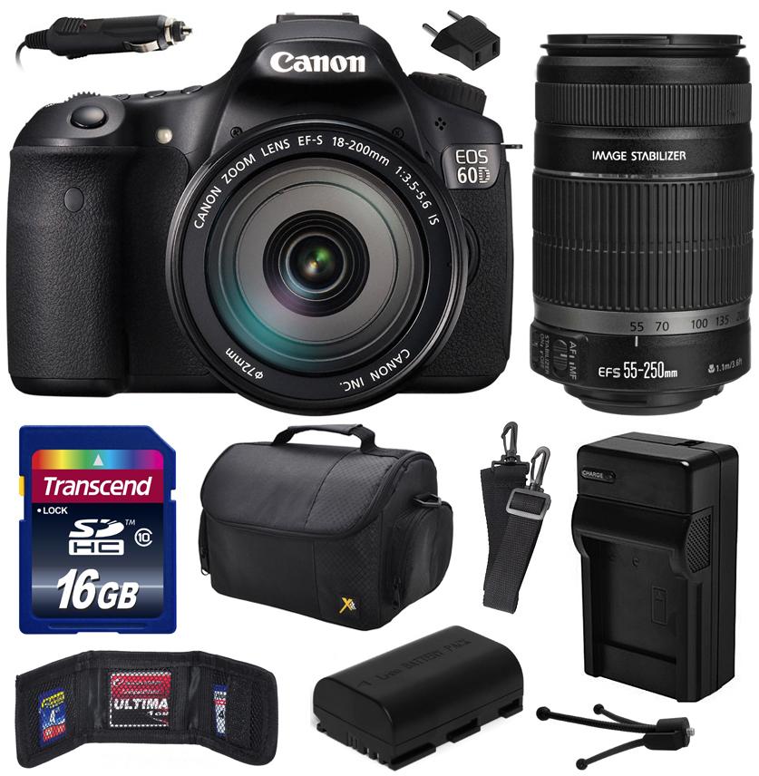 Canon EOS 60D 18 MP CMOS Digital SLR Camera with EF-S 18-...