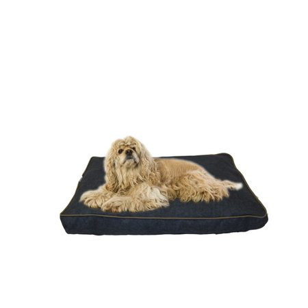Carolina Pet Company Indoor Outdoor Dog Bed With Cording In Solid Blue