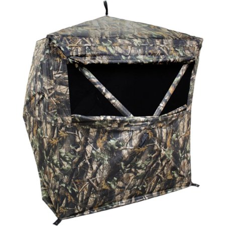HME Portable Executioner 2 Person Camo Bird and Deer Hunting Hub Ground Blind