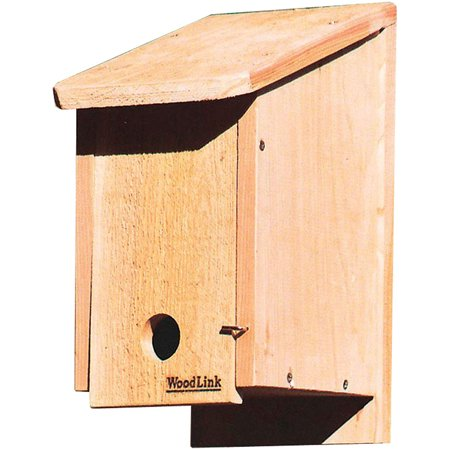 Woodlink Kiln-Dried Cedar Wood Birdhouse Winter Roosting and Shelter Box, Brown