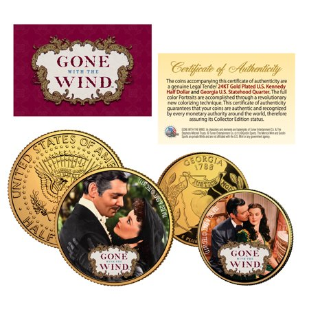 GONE WITH THE WIND Georgia Quarter & JFK Half Dollar US 2-Coin Set * LICENSED (Georgia Coin Set)
