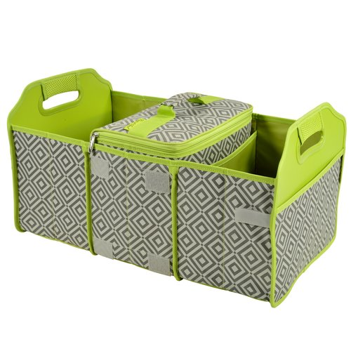 Picnic At Ascot Original Folding Picnic Basket with Cooler