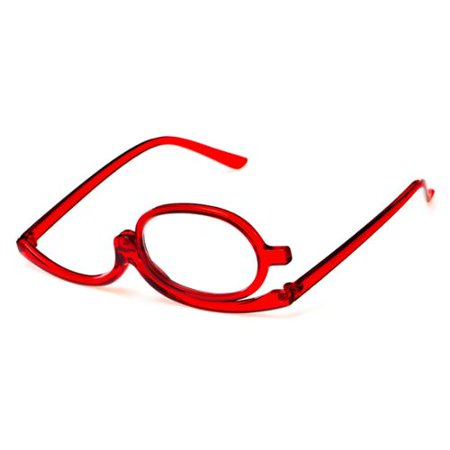 Readers.com The Carrie Makeup Reader +1.25 Red Reading (Brown Round Glasses)