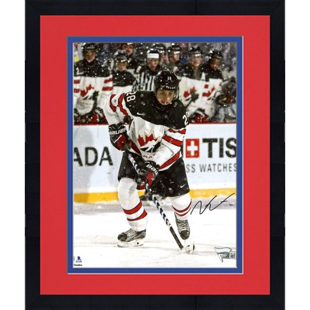 Framed Victor Mete Montreal Canadiens Autographed 8  X 10  2018 World Junior Championship Photograph   Fanatics Authentic Certified