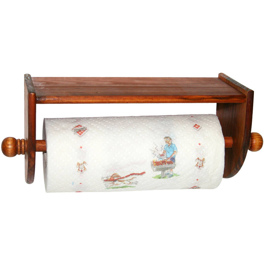 Home Basics Rustic Collection Pine Wall Mounted Paper