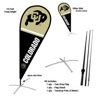 University of Colorado Buffaloes Teardrop Flag Pole and Stand Kit