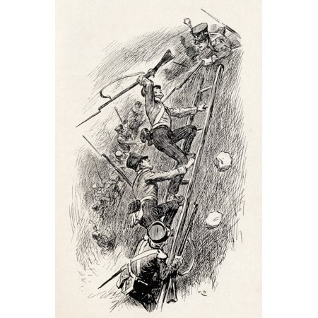 Image of Combatants Who Struggled Fiercely To Destroy Each Other Illustration By Gordon Browne From Grant The Grenadier By Walter Wood Published By Routledge Circa 1912 Canvas Art - Ken Welsh Design Pics (22