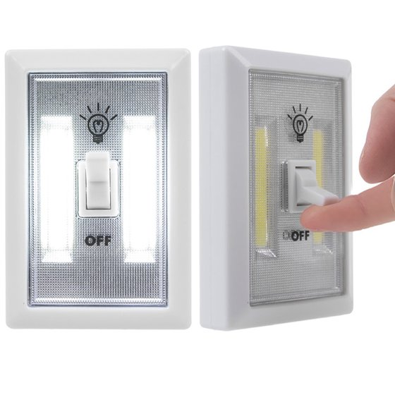 COB LED Wall Switch Lights, Emergency Battery Operated