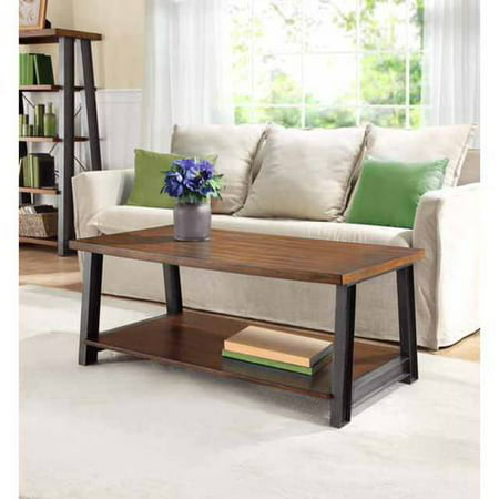 Better Homes and Gardens Mercer Coffee Table, Vintage Oak - Better Homes And Gardens Mercer Coffee Table, Vintage Oak