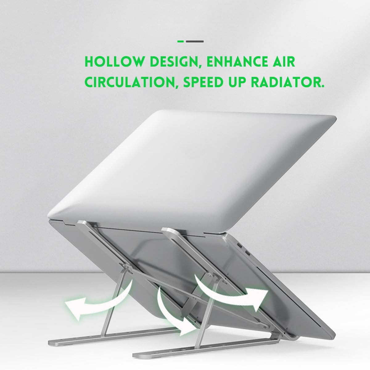 Portable Folding Laptop Stand For Desk Adjustable Height Laptop Cooling Stand Holder Notebook For 11 17inch Tablet Pc Walmart Com Walmart Com