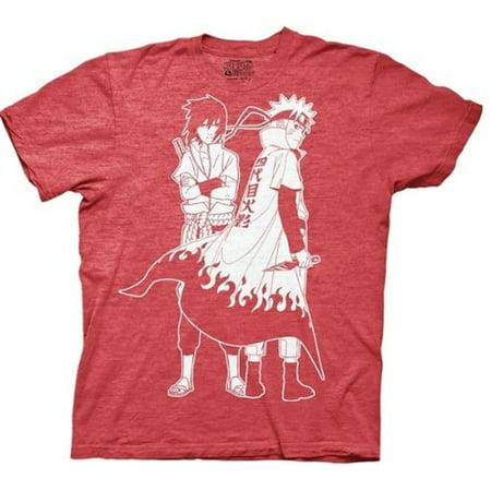 Naruto Shippuden T-Shirt - Naruto and Sasuke Outline