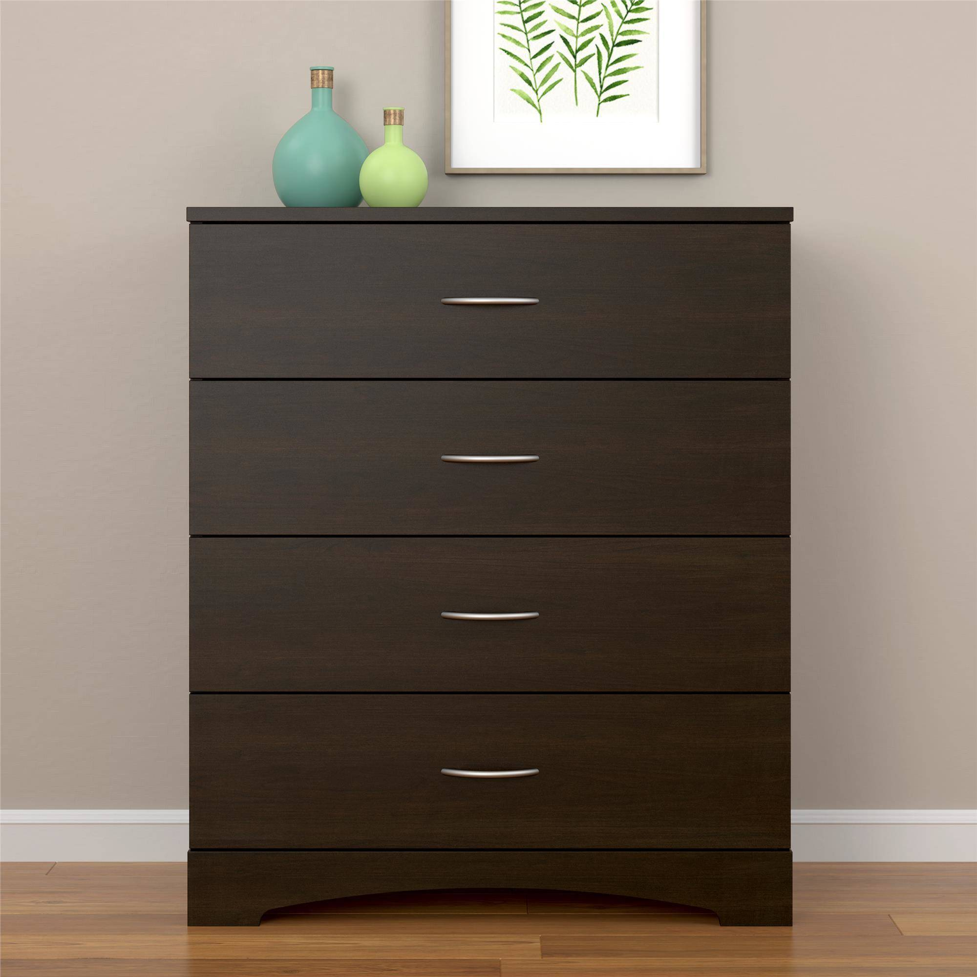 Ameriwood Home Crescent Point 4 Drawer Dresser, Multiple Colors