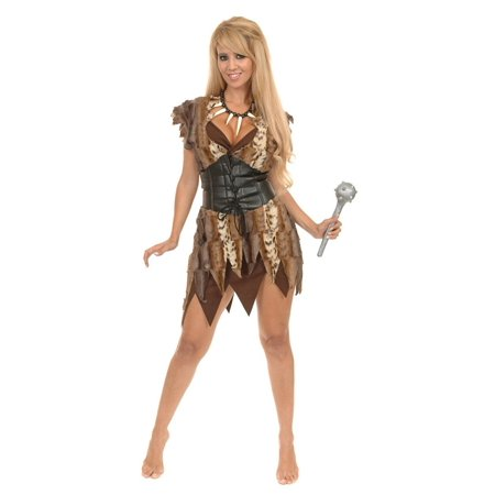 Halloween Cavewoman (Women's Cavewoman Costume Set)