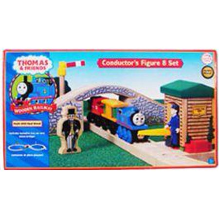 Thomas & Friends Wooden Railway Conductor\'s Figure 8 Set Track Set ...