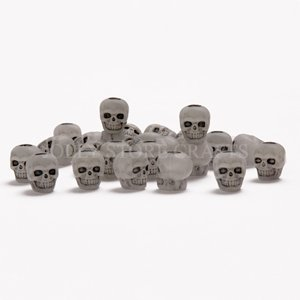 JOLLY STORE Crafts Skull Beads Glow in the Dark made in the USA](Skull Beads Wholesale)