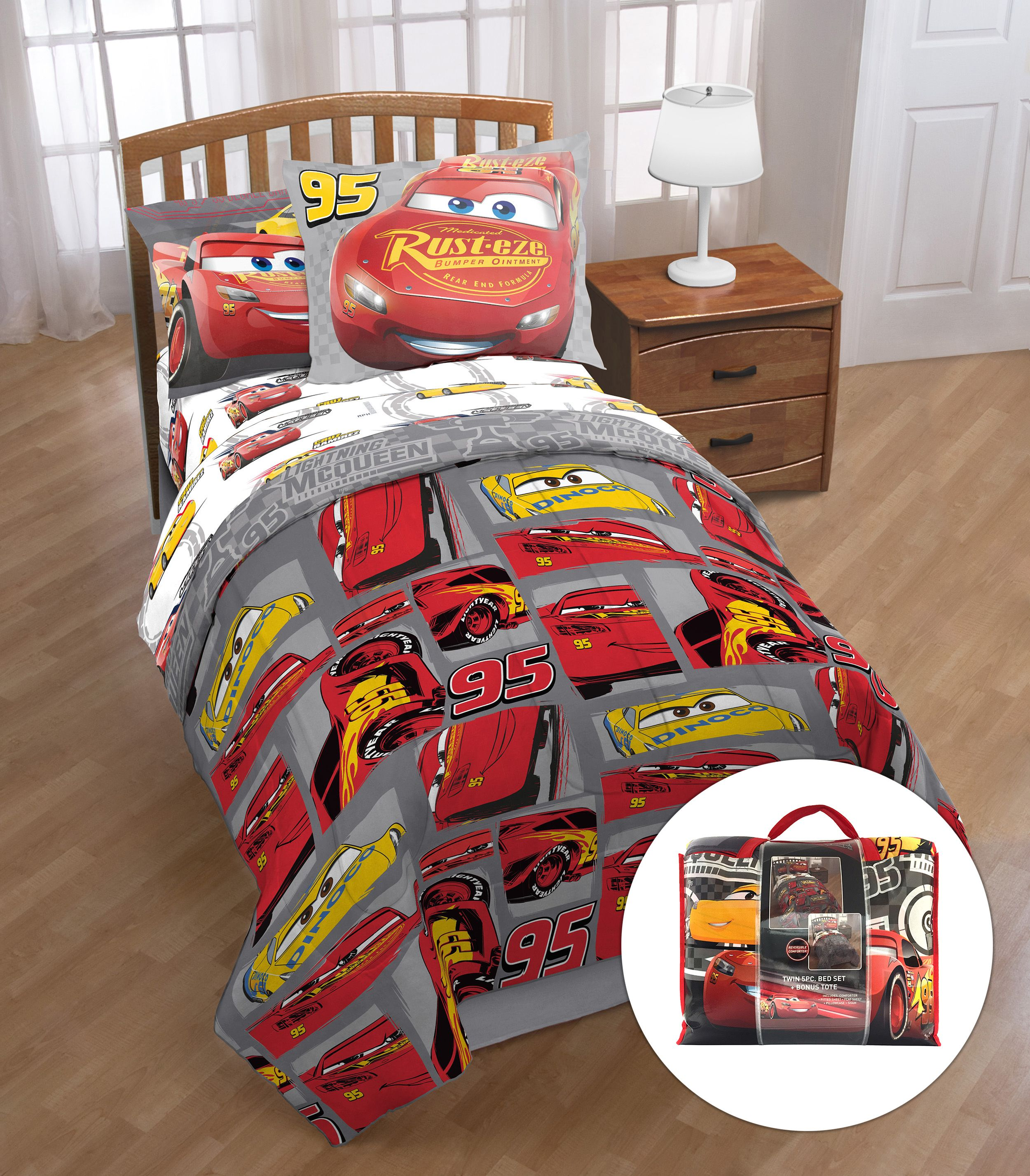 Disney's Cars 5-Piece Bed in a Bag with Bonus Tote by Jay Franco & Sons