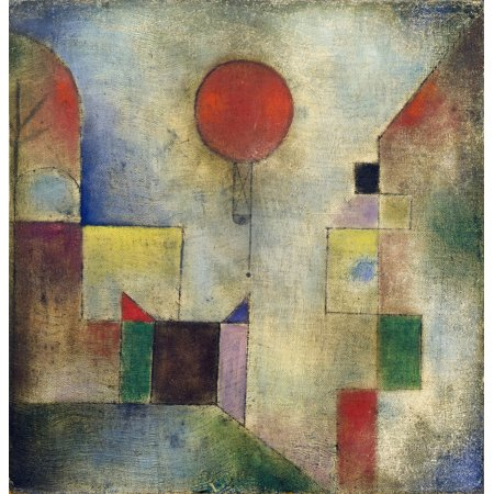 Framed Art for Your Wall Paul Klee - Red Baloon (1922) 10x13 Frame - Baloon Frame