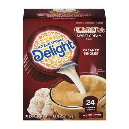 - (6 Pack) International Delight Cold Stone Sweet Cream Creamers, 24 Ct