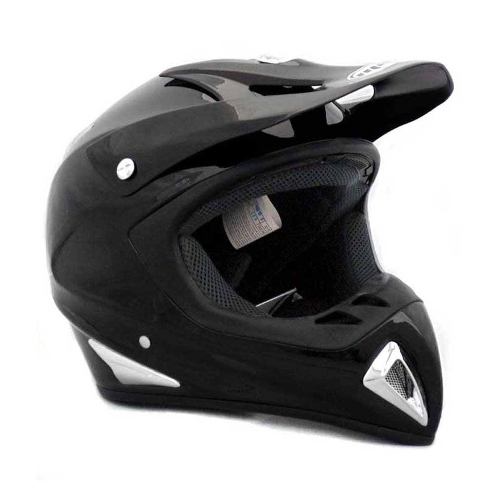 MMG Motorcycle Youth Kids Helmet Off-Road MX ATV Dirt Bike Motocross UTV with goggles Shiny White Small