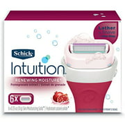 Schick Intuition Renewing Moisture With Pomegranate Extract Women's Refill Razor Blades - 6 Count