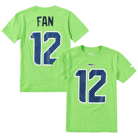 4aa1f30fcde0 12s Seattle Seahawks Nike Youth Color Rush Player Pride Name   Number  T-Shirt - Neon Green - Walmart.com