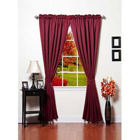 Aurora Home Solid Thermal Insulated 108 Inch Blackout Curtain Panel Pair Chocolate