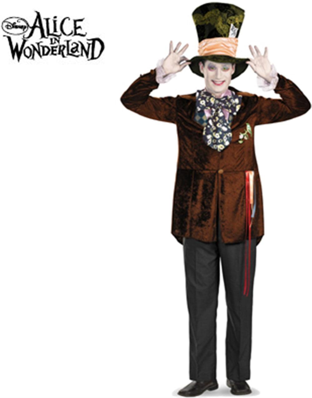 Mad Hatter Alice In Wonderland Adult Halloween Costume Walmart Com Walmart Com
