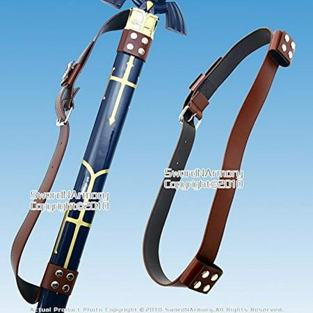 Zegna Leather (Medieval Back Hanger Baldric Sword Belt for Zelda Link Princes Anime SwordMade out of brown leather. By Etrading )