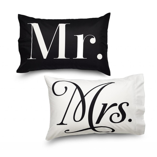Where the Polka Dots Roam Queen Mr and Mr's Ultra Microfiber Pillowcase (Set of 2)