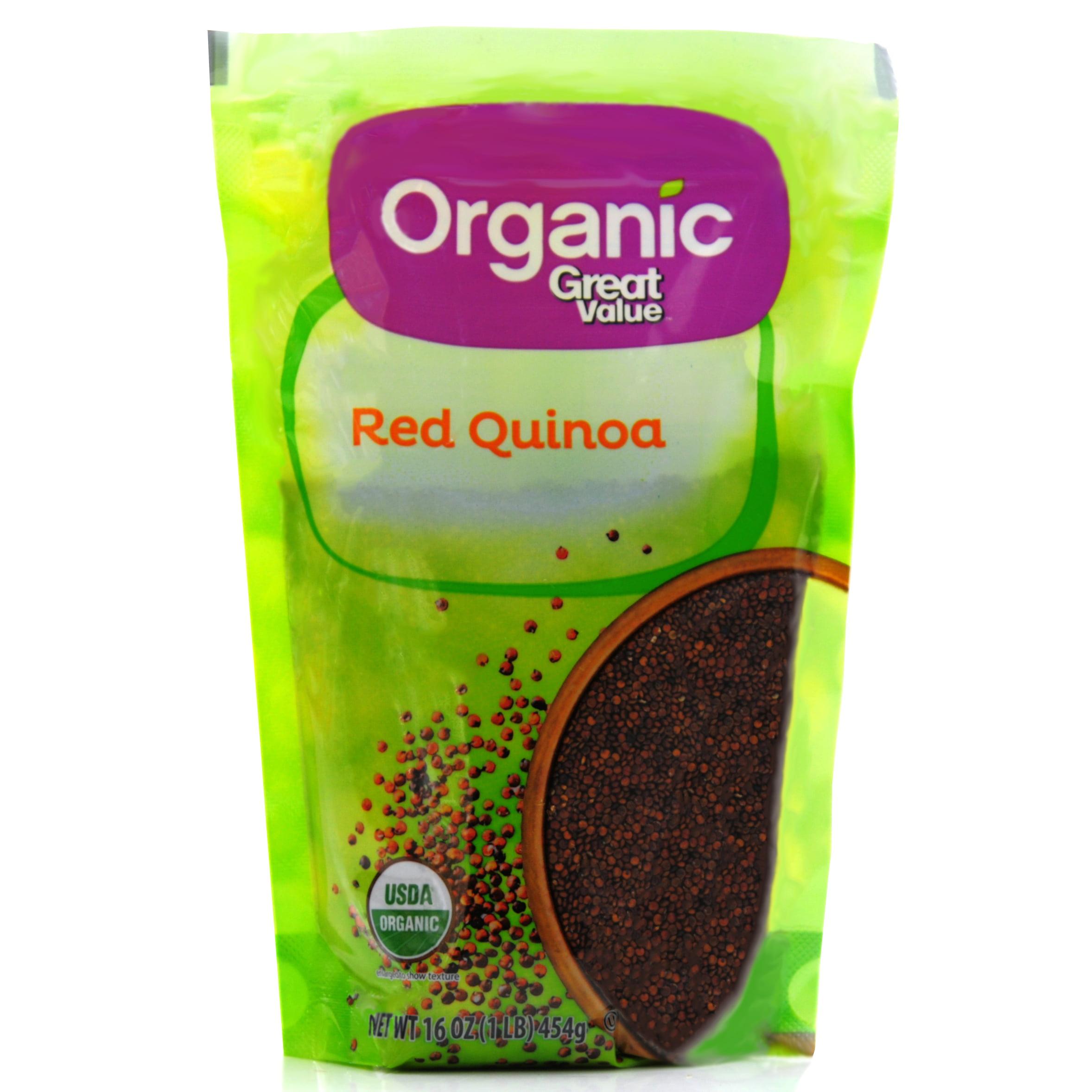 (2 Pack) Great Value Organic Red Quinoa, 16 oz