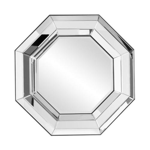 Southern Enterprises Adelina Octagonal Decorative Mirror in Silver