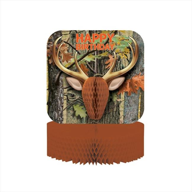 Creative Converting 265676 Hunting Camo - Centerpiece & Honeycomb - Case of 6