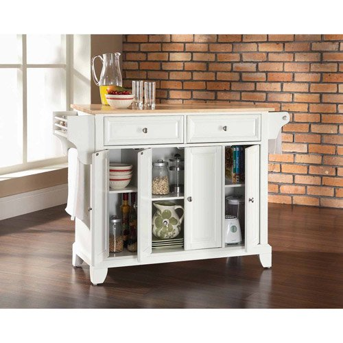 Crosley Newport Natural Wood Top Kitchen Island