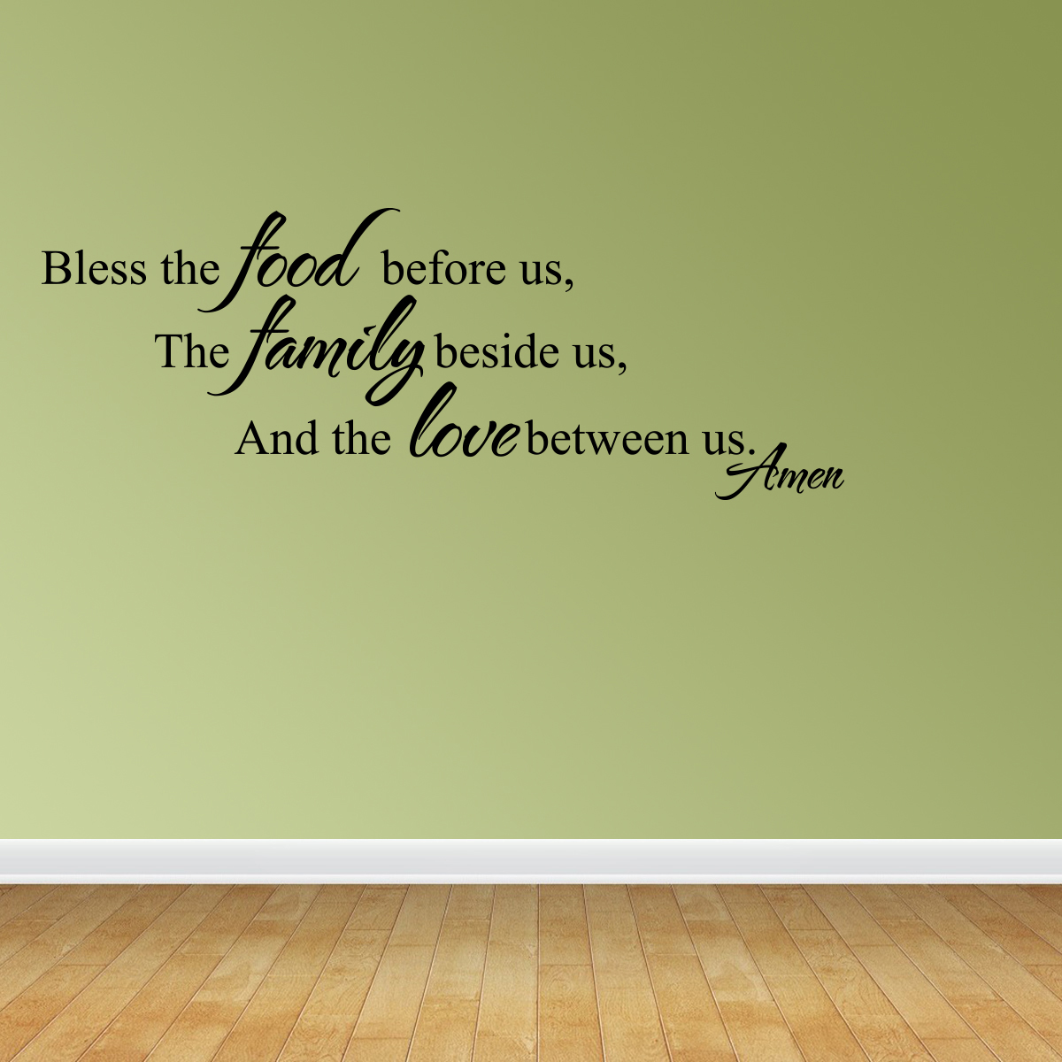 Wall Decal Quote Bless The Food Before Us The Family Beside Us And The JR920