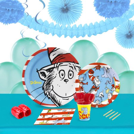 Dr. Seuss 16-Guest Tableware and Decoration Kit