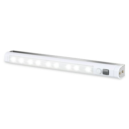 Homelife Motion Sensor Adhesive LED light Bar,EEEkit Shelf Counter LED Light Lighting Lamp Wireless, 9LED PIR Motion Sensor,  Stick on Anywhere for White Light,USB Rechargeable and Energy