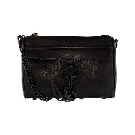 Rebecca Minkoff Mini Mac Leather Cross Body Bag - Black