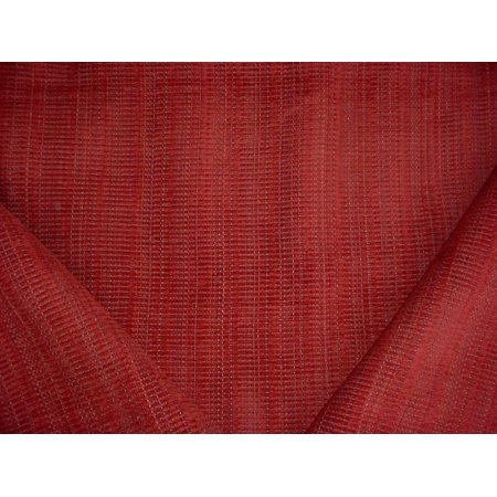 323H14 - Sienna Red / Evergreen Southwest Strie / Plains Textured Stripe Chenille Designer Upholstery Drapery Fabric - By the Yard